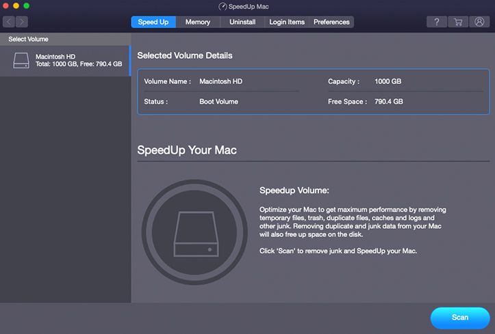 speedUp mac screenshot 1